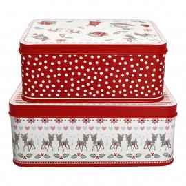 Rectangular box Bambi white set of 2 pcs