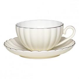 Teacup and Saucer Pastel Creme