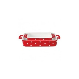 Oven dish red dot (2 pz.)